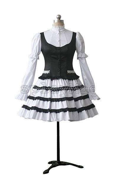 """Платье в стиле Lolita """"Pretty Maid"""" + нижняя юбка   Готическая одежда, стимпанк одежда, лолита стайл, одежда для готов, рок одежда, cosplay одежда, готический магазин, рок магазин"""
