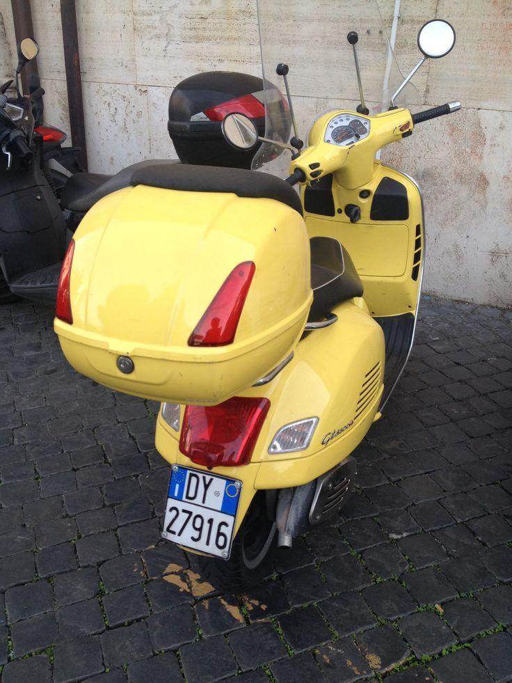 Audrey Hepburn's Vespa scooter in Roman Holiday