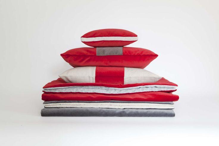 MarinaC - cushions and bedspreads in linen and velvet ph. @Cristina Galliena Bohman shop.marinac.it #marinacmilano