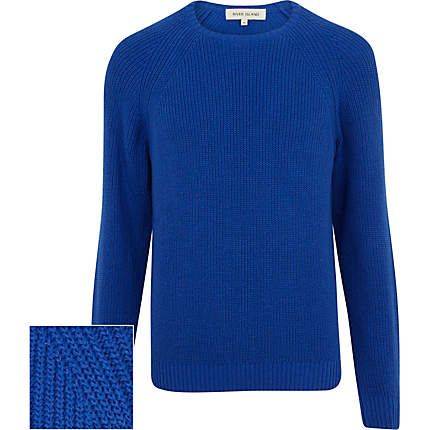 Cobalt blue textured jumper €18.00
