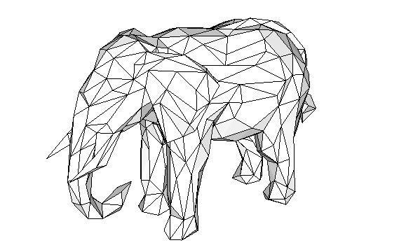 animal paper model elephant free papercraft download
