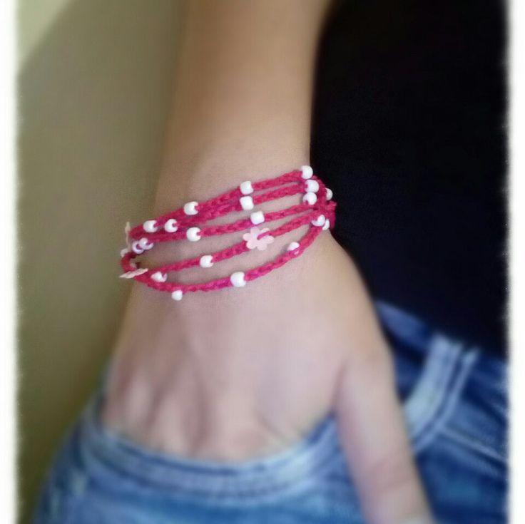 Wrap bracelet...or necklace... crocheted with beads....You choose how to wear it...select your color now...