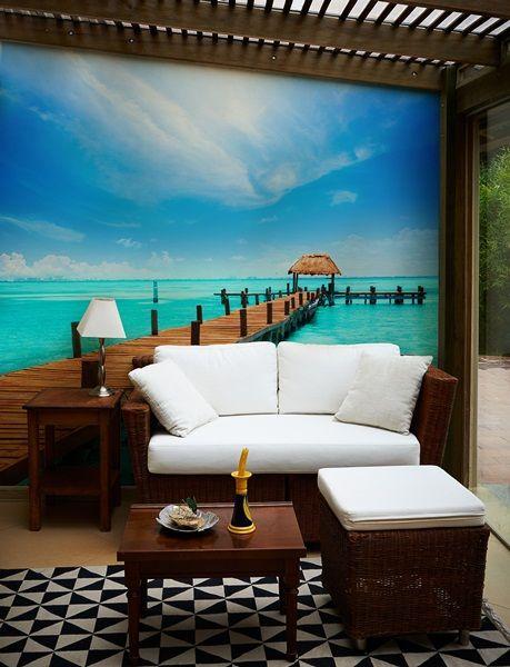 Las 25 mejores ideas sobre mural de playa en pinterest - Decorar paredes facil ...