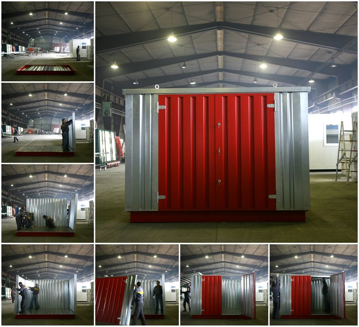 A step by step look at how we set up our containers.  click on our website for more information! http://store-anything-fast-easy.com/  #storagesolutions #storage #diy #flatpack #quick #fast #storagecontainers #BOS #steel #german