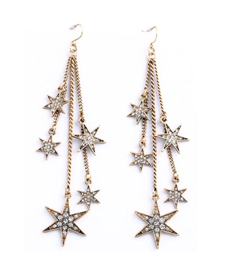 Earrings : Falling Stars Long Drop Earrings