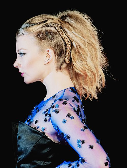 """"""" So much of female identity is bound up in our hair. It was fascinating to explore my idea of what makes me physically attractive. I felt empowered. - Natalie Dormer (x) """""""