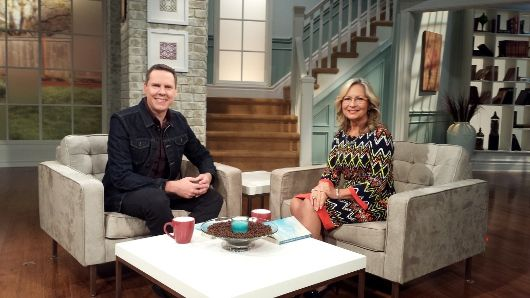 With Moira Brown on Canada's 100 Huntley Street