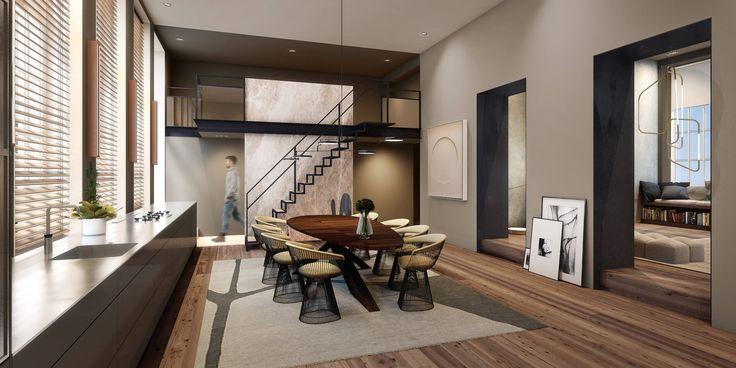 appartement 1 appartement 2appartement 3impressies downloadsVanuit de eetkamer is er direct toegang tot het eerste riante dakterras