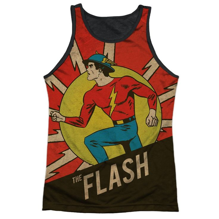"""Checkout our #LicensedGear products FREE SHIPPING + 10% OFF Coupon Code """"Official"""" Dc/vintage Comic Flash-adult Poly Tank Top T- Shirt - Dc/vintage Comic Flash-adult Poly Tank Top T- Shirt - Price: $24.99. Buy now at https://officiallylicensedgear.com/dc-vintage-comic-flash-adult-poly-tank-top-shirt-licensed"""