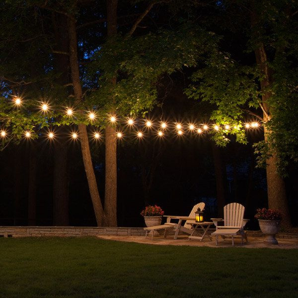 String Patio Lights Glamorous 272 Best Backyard Ideas Images On Pinterest  String Lights Inspiration Design