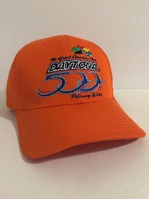 Daytona 500 NASCAR Snapback Cap Orange Adjustable February 18 12da00f45046