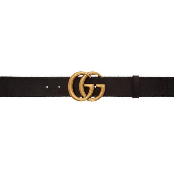 Gucci Black GG Toscano Belt ($420) ❤ liked on Polyvore featuring accessories, belts, black, adjustable leather belt, gucci belt, gucci, adjustable belt and studded leather belt