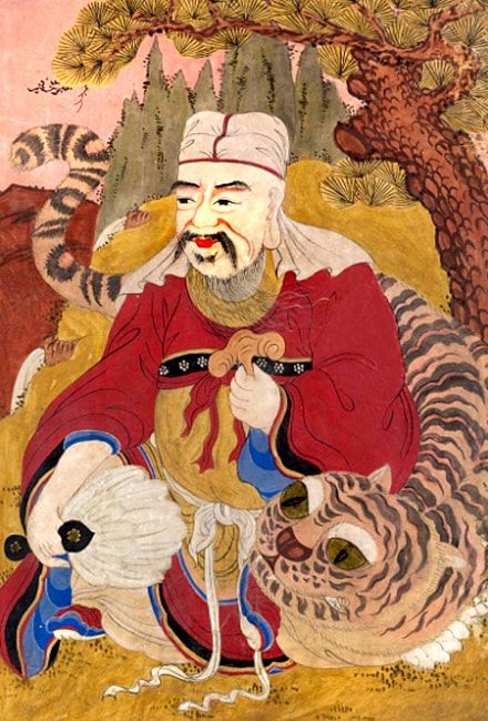 Mushindo ( 무신도 巫神圖)- Sanshin (산신령 山神靈) the Mountain Spirit