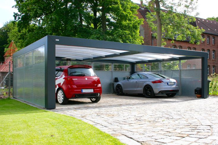 KUBIC ist unser Bauhausstil Carport mit breiten Rahmen und