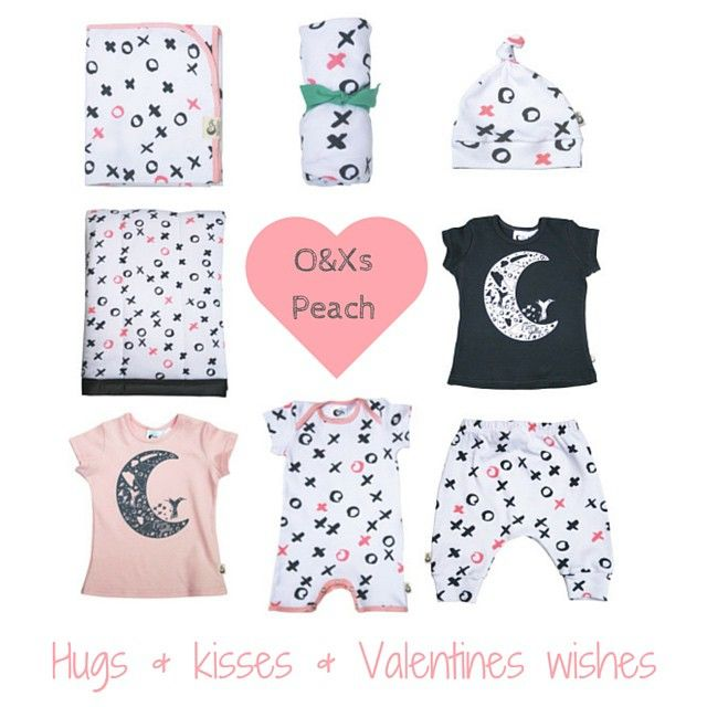 Instagram FeedHugs & kisses &valentine wishes! To celebrate Valentine's Day tomorrow, use code VALENTINE at checkout to get 10% of our O&Xs Peach range. You can search 'by print' on our website link in profile xxx #organiccotton #moonjelly #madeinaustralia #valentinesday #kidsstyle #kidsinteriors #kidsfashion