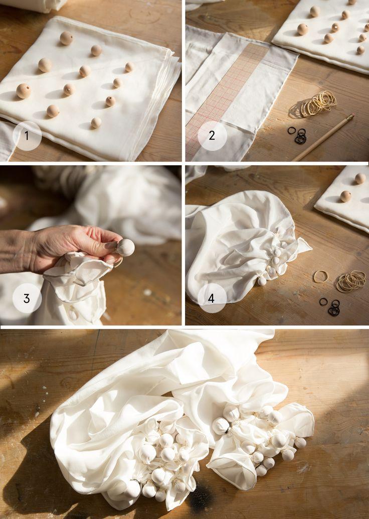 Kumo Shibori dyeing #DIY