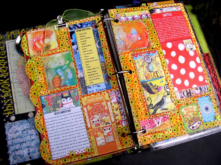 JOURNALFEST 2009  altered books and journals: Journal Idea, Colorful Journal, Journal Inspiration, Smash Book, Art Journals, Ingrid Dijkers, Altered Books, Art Journaling