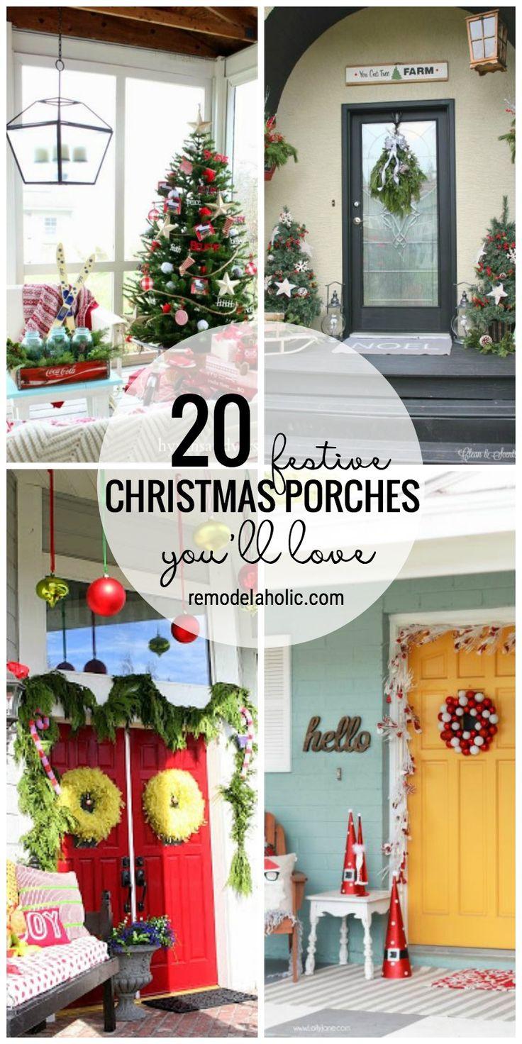 176 best porches images on pinterest porch ideas backyard ideas 20 festive christmas porches you ll love