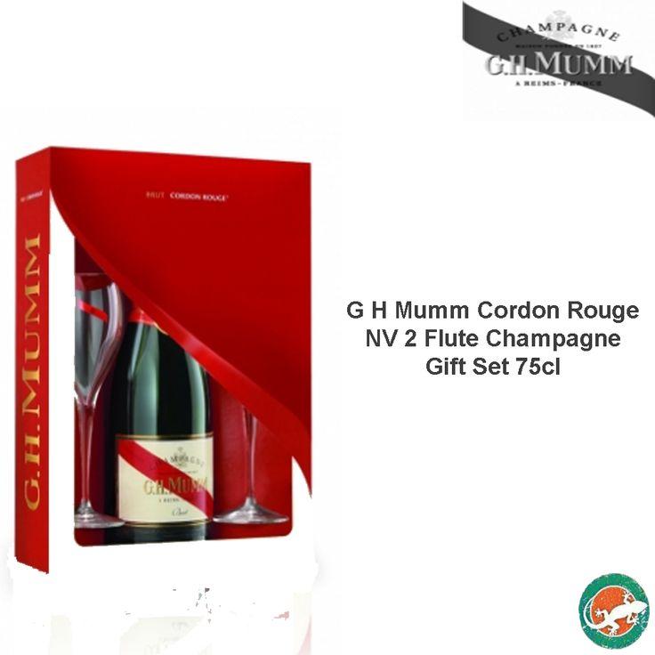 La Salamandra - G H Mumm Cordon Rouge NV 2 Flute Champagne Gift Set 75cl, €34.50 (http://www.lasalamandrabodega.com/g-h-mumm-cordon-rouge-nv-2-flute-champagne-gift-set-75cl/)
