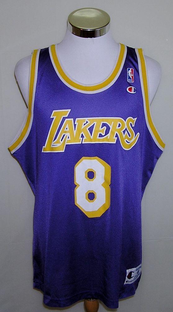 Los Angeles Lakers Kobe Bryant Vintage Champion Rookie Year Jersey Size 48 (XL) #Champion #LosAngelesLakers