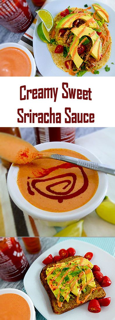 The Best- Creamy-Sweet-Sriracha-Sauce~ This Sriracha Sauce has a subtle and addictive sweet heat to it.  It's so easy and so good you might get caught trying to drizzle it on everything! It's great as a dip too!