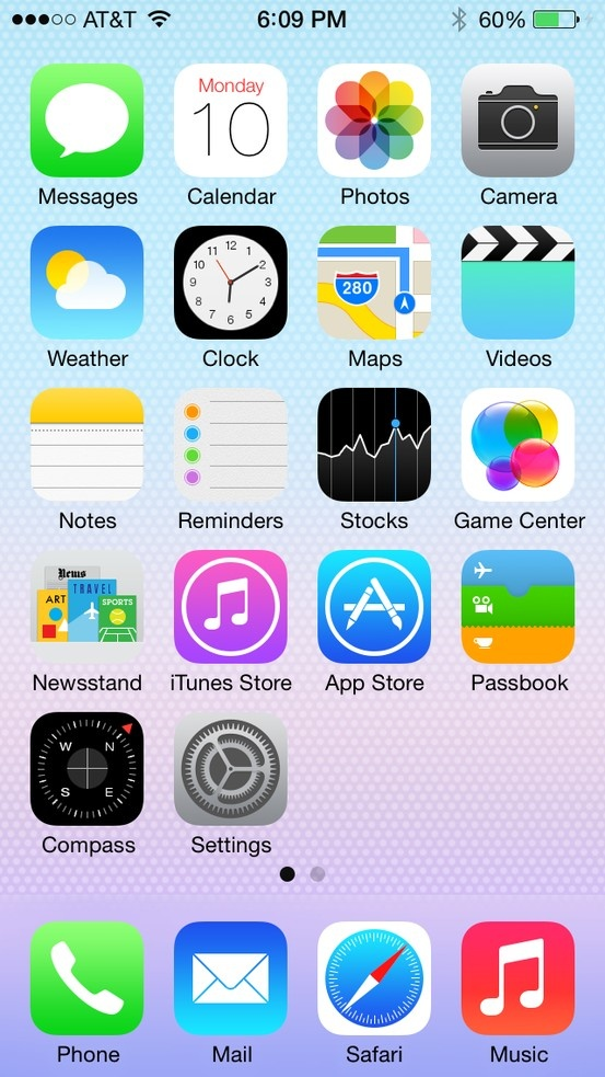 iOS 7 | #ui #apple #ios7