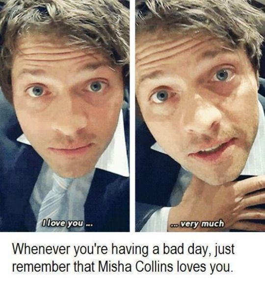 Misha Collins ❤️s you