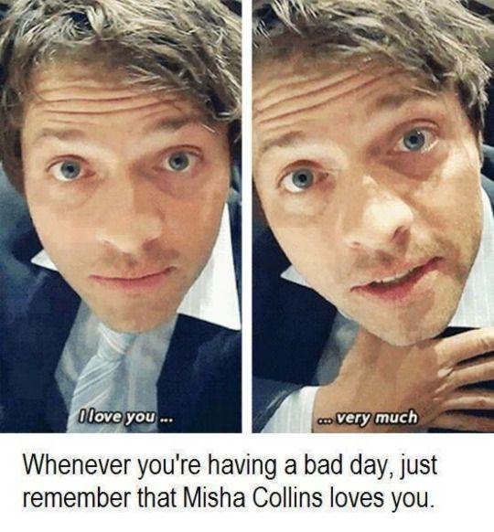 Misha Collins ❤️s you
