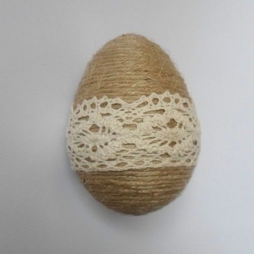 Sznurkowe jajo na wielkanoc