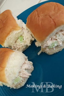 Chicken Salad Sandwiches. My Husband refuses to eat mayo. After he found out this dish had mayo this is the only thing he allows mayo to be in. So good!