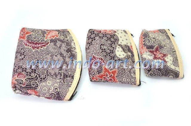 grosir souvenir dompet batik set tiga kotak