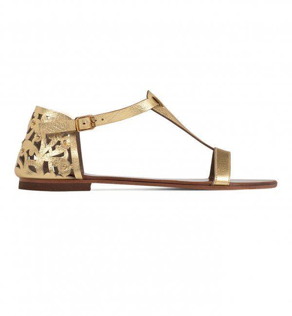 Sandales plates dorées Minelli 79€