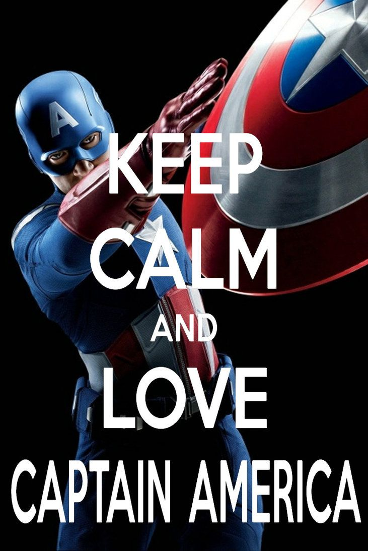 Keep Calm And Love Captain American by ~AMEH-LIA on deviantART