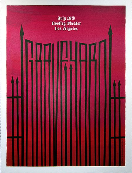19 best poster design images on pinterest album covers books poster for graveyard at the bootleg theater in los angeles designed and printed by alan hynes 19 x 25 edition of 120 screenprint wit solutioingenieria Image collections