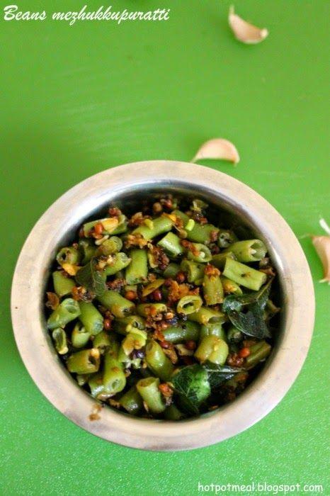 Hot pot cooking: Beans mezhukkupuratti | Onam sadhya recipes