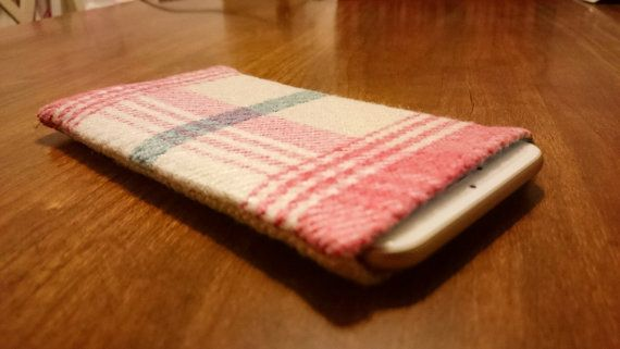 Check out this item on Etsy:  https://www.etsy.com/uk/listing/264837738/tartan-iphone-sleeve