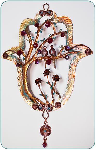 Copper Art Hamsa--Ahuva Elany-$143