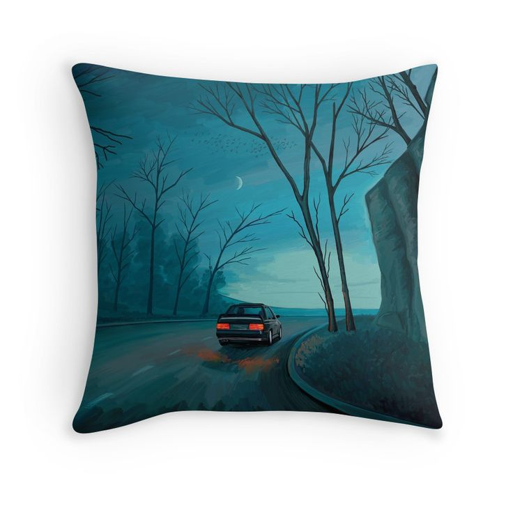 """Night Ride"" Throw Pillows by Remus Brailoiu 