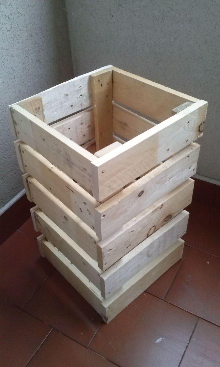 Jardinera de madera de palet el punto y - Maceteros de obra ...