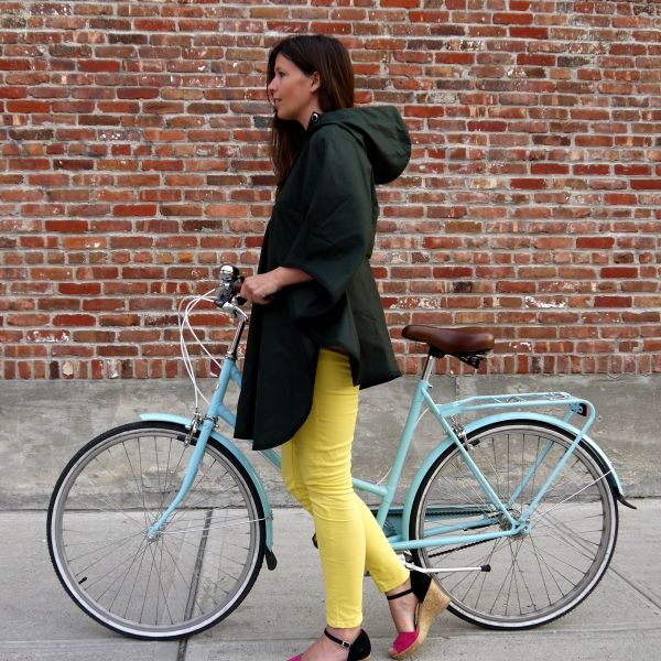 It's raining. It's pouring. (and possibly snowing?) So forget juvenile, patterned rain boots, drugstore umbrellas, and your high school windbreaker. We've got just the right rain bike capes for spring bike riding that will stand up to the drizzle, and have got such great looks that you'll be checking weather underground in hopes of seeing …