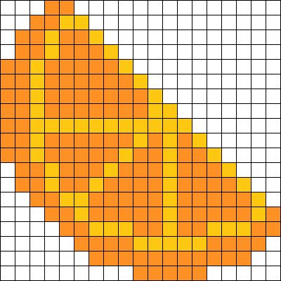 Orange Slice Perler Bead Pattern / Bead Sprite