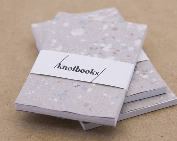 Mini Gray Handmade Paper with Speckles Softcover Notebook