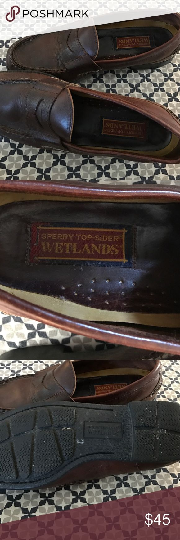 Sperry Topsider Wetlands Penny Loafers Sperry Topsider Wetlands Penny Loafers. Excellent condition. Brown. Size 10. Sperry Top-Sider Shoes