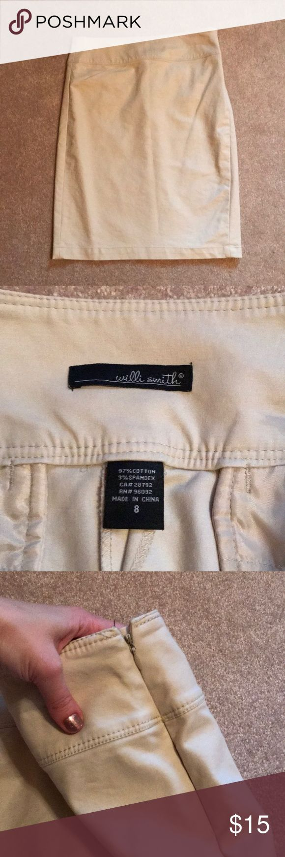 NWOT Willi Smith Tan Pencil Skirt Perfect staple for any closet! 15.5 inch waist and 22.5 inches long Willi Smith Skirts Pencil