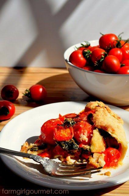 Cherry Tomato & Kale Pie | Farmgirl Gourmet