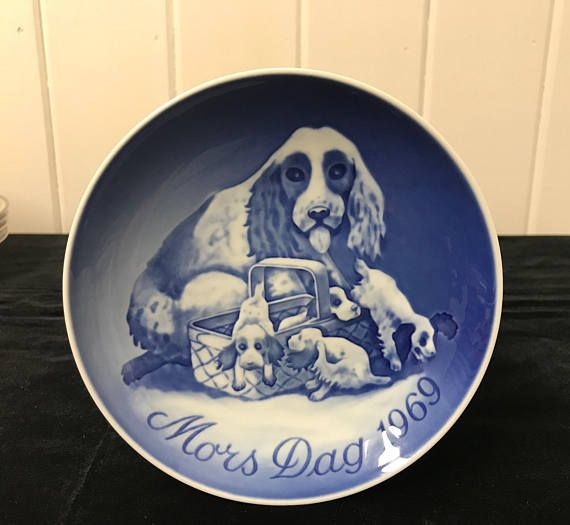 1969 Mother's Day Plate Mors Dag Plate Vintage Bing and