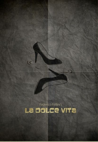 La Dolce Vita (The Good Life) (1960) ~ Minimal Movie Poster by Zoki Cardula ~ Fellini Series #amusementphile