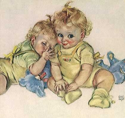 pretty babiesIllustration Bébé, Bébé Dantan, Children Illustrationsvari, Vintage Children, Maud Tousey, Tousey Baby, Illustrationsvari Artists, Baby Illustration, Tousey Fangel