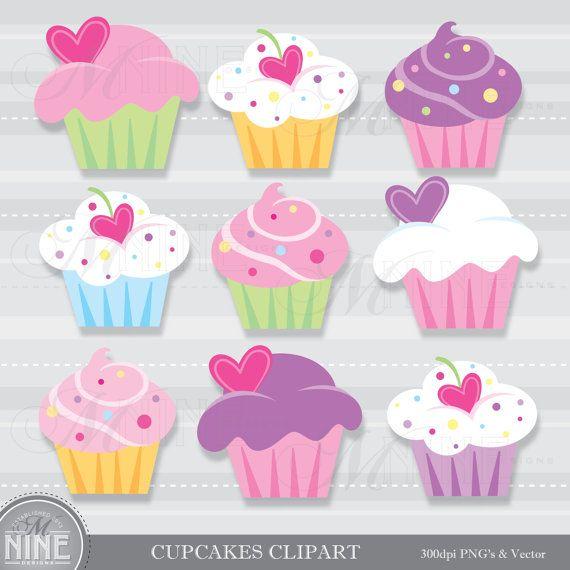 He encontrado este interesante anuncio de Etsy en https://www.etsy.com/es/listing/227992122/cupcake-clip-art-cupcakes-clipart-vector