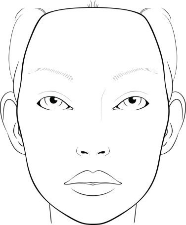 Blank Face Chart For Makeup Artists Vector Art | Getty Images